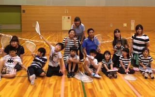 知的障がいのある子たちのテニス教室