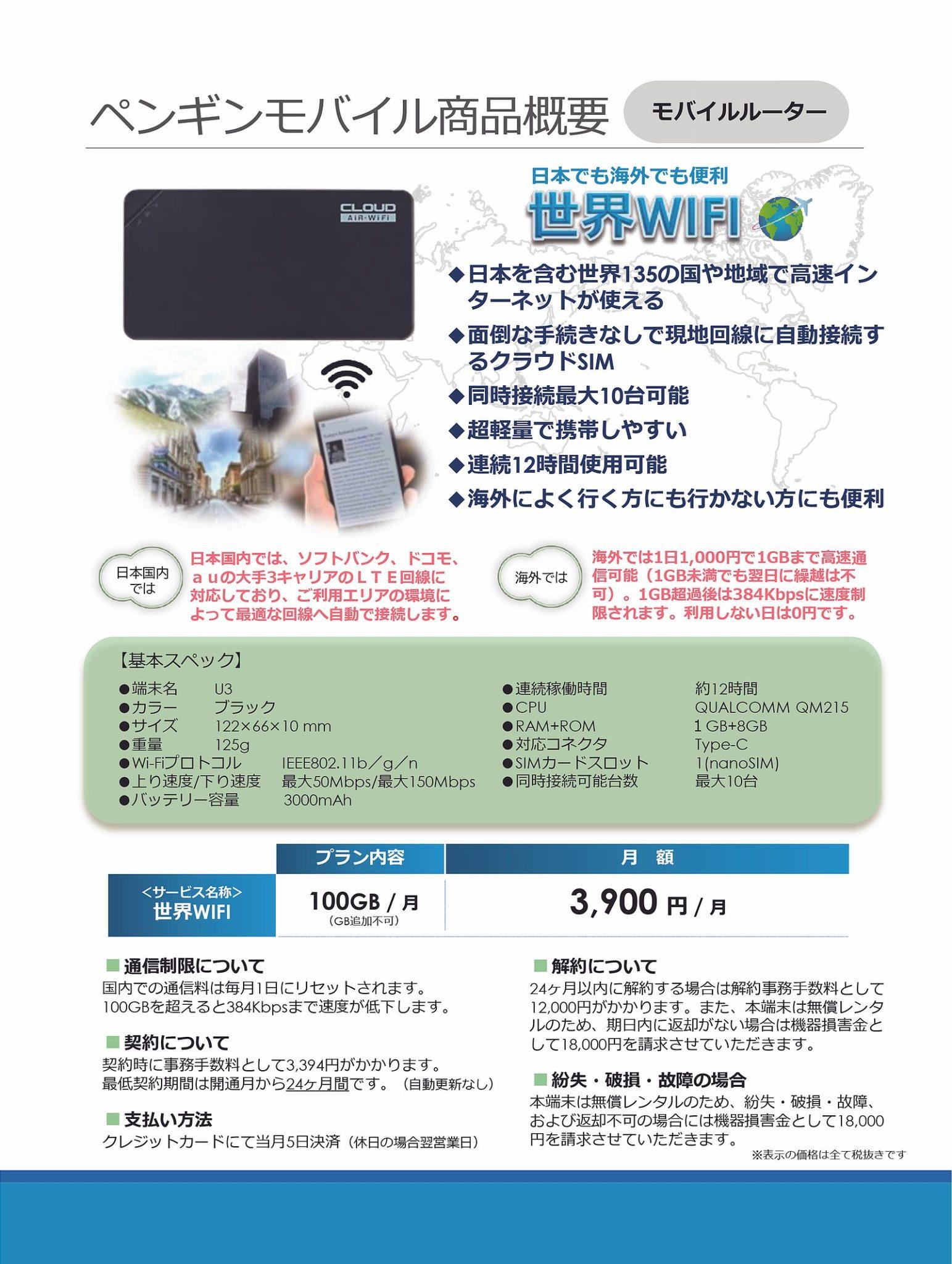 高性能・軽量Wi-Fi