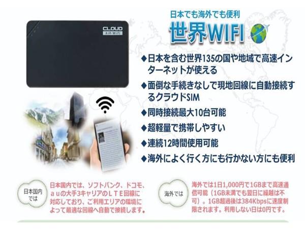 世界Wi-Fi  100G3,900円(月々、税別)